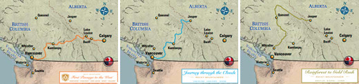 Rocky Mountaineer 2-day and 3-day Rail Routes