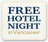 Free hotel night in Vancouver