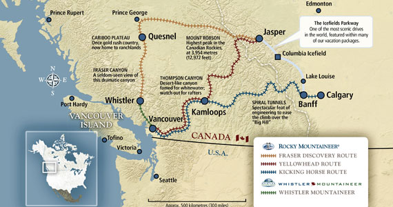 Rocky Mountaineer - All Routes