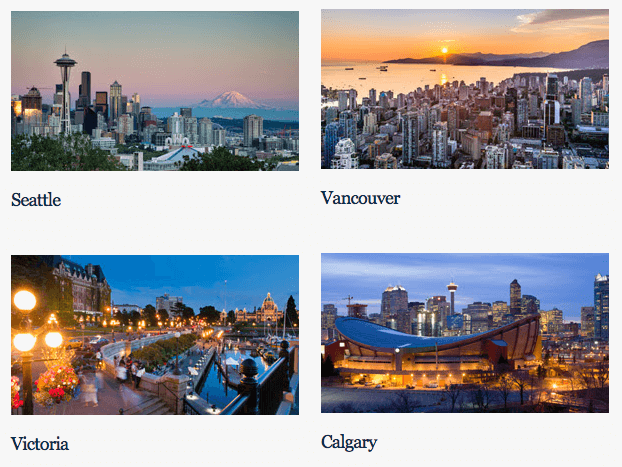 Free night in Seattle, Vancouver, Victoria or Calgary