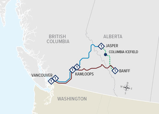 Canadian Rockies Escape Circle map